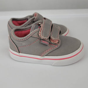 VANS Sneakers Pink and Grey Toddler Size 5.0